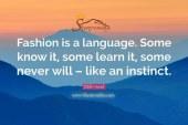 فشن یک زبان است !
