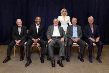 عکس جنجالی لیدی گاگا و ۵ رییس جمهور سابق امریکا