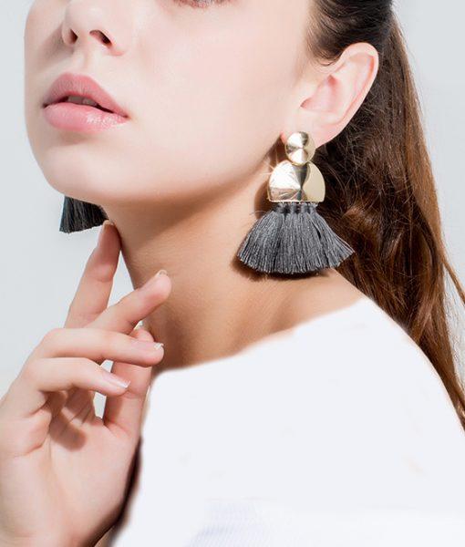 تصاویر نمونه گوشواره ریش ریش 2018 از محصولات گالری شمرون.