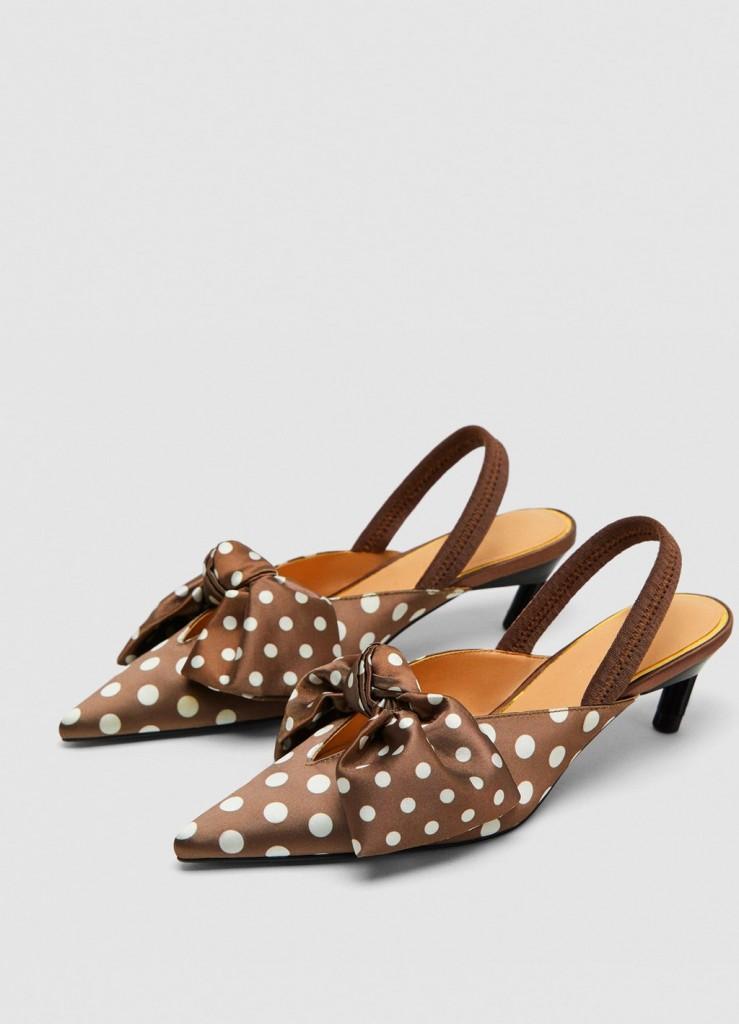 کفش پاشنه بلند خال خالی از برند ZARA به قیمت $49.90