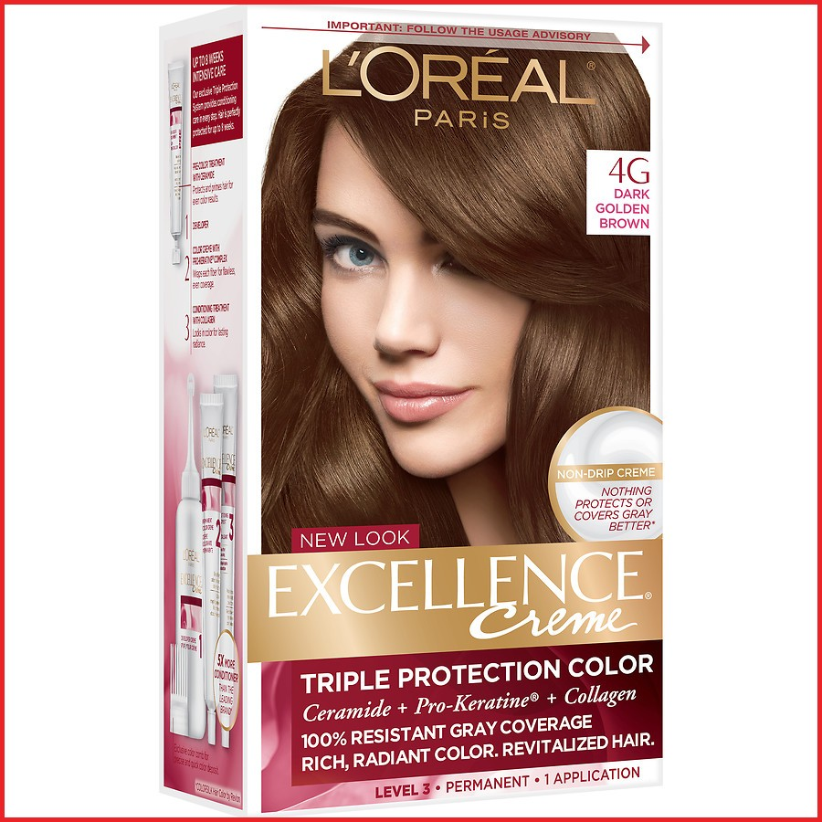 l oreal paris hair color 95409 L Oreal Paris Excellence Creme Permanent Hair Color Dark Golden
