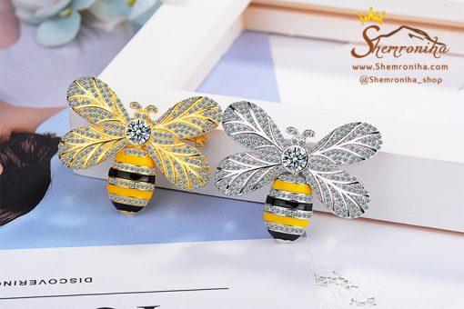 سنجاق سینه لوکس طرح زنبور از محصولات گالری شمرون