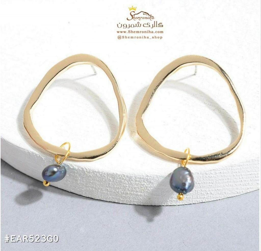 نمونه طراحی های مدرن گوشواره های ترکیب با مروارید - محصولی از گالری شمرون