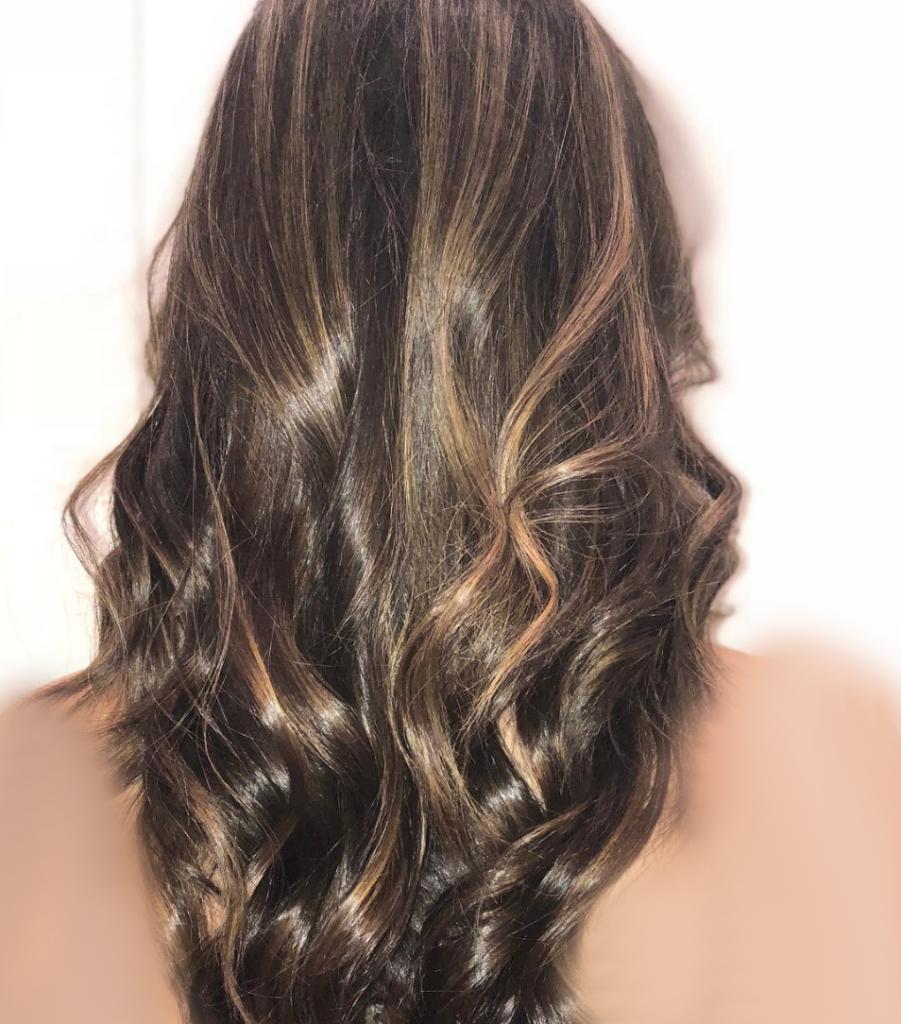 رنگ موی پاییزی ترافل شکلاتی