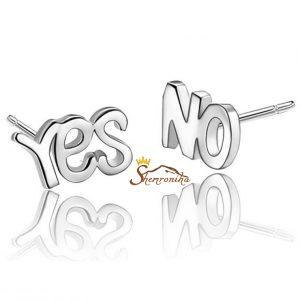 گوشواره فانتزی مدل Yes & No - سیلور (۲)