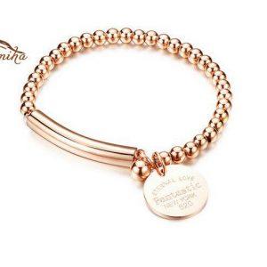 دستبند دخترانه استیل آویر طرح New York 520 (5)