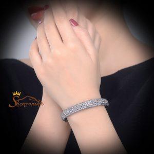 دستبند زنانه کلاسیک تمام کریستال زیرکنیا مشکی (۳)