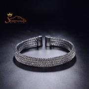 دستبند زنانه کلاسیک تمام کریستال زیرکنیا مشکی (۵)