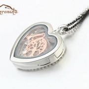 گردنبند رومانتویی رولباسی طرح قلب با آویز بازشونده حاوی درخت سیلور (۵)