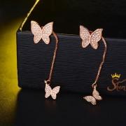 گوشواره آویزی طرح پروانه (۲)