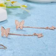 گوشواره آویزی طرح پروانه (۴)