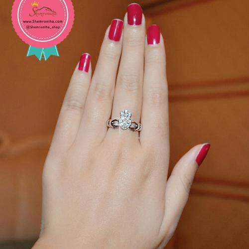 انگشتر حلقه تاج و قلب و دست