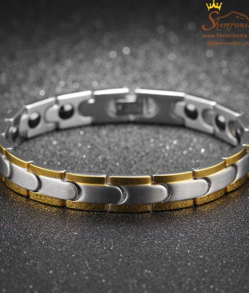 دستبند ست زنانه مردانه سیلور و رزگلد