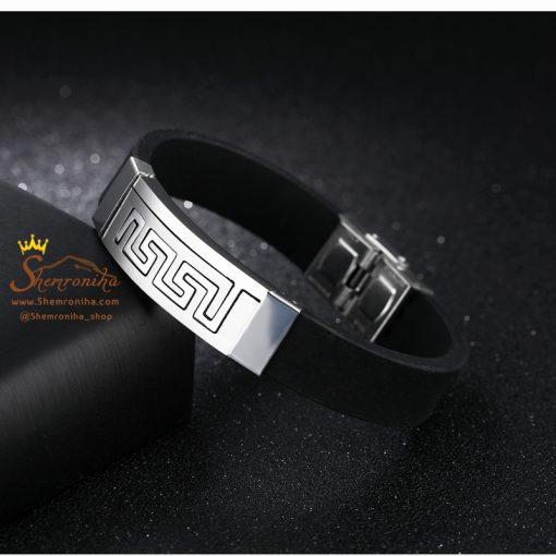 دستبند VERSACE پلاک سیلور