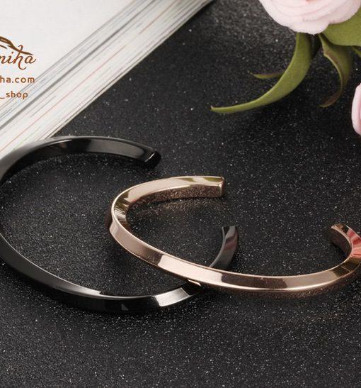 ست دستبند زنانه مردانه رزگلد و مشکی