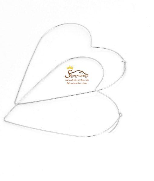 گوشواره قلب سیلور