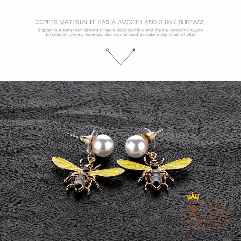 گوشواره میخی فانتزی زنبور