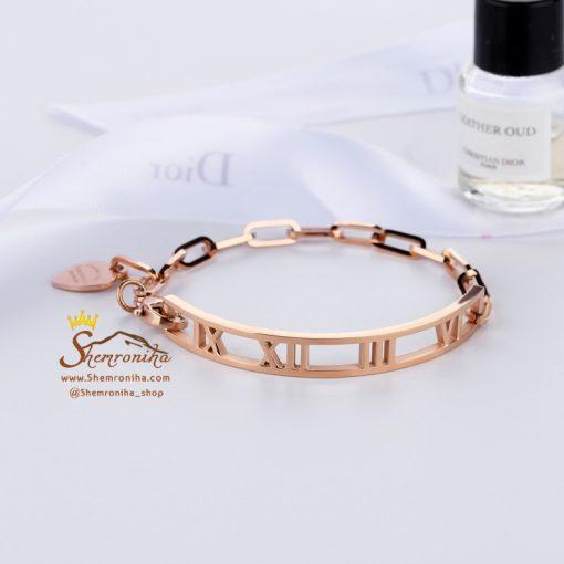 دستبند استیل تیفانی با آویز قلب
