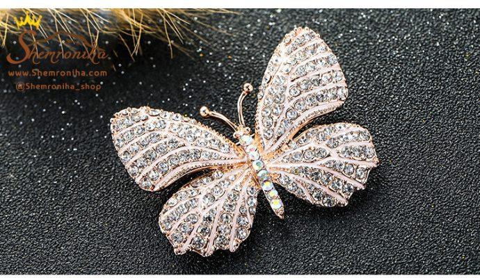 سنجاق سینه پروانه