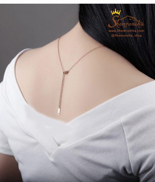 گردنبند آویز قلب و حلقه