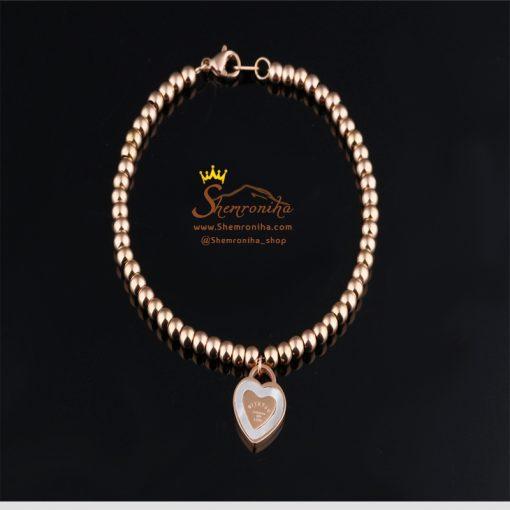دستبند تیفانی آویز قلب