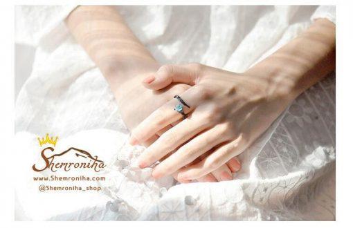 انگشتر زوج زنانه مردانه گل