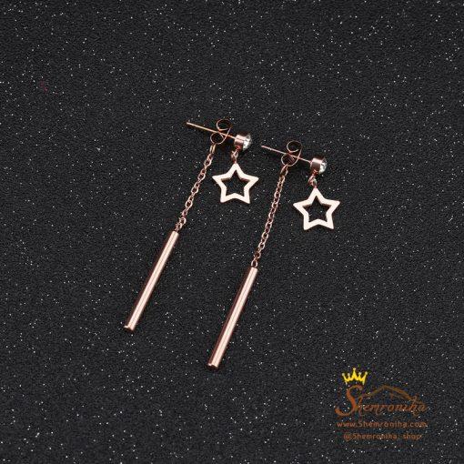 گوشواره آویزی ستاره