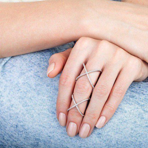 انگشتر دو تکه متصل X