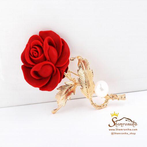 گل سینه – سنجاق سینه گل رز