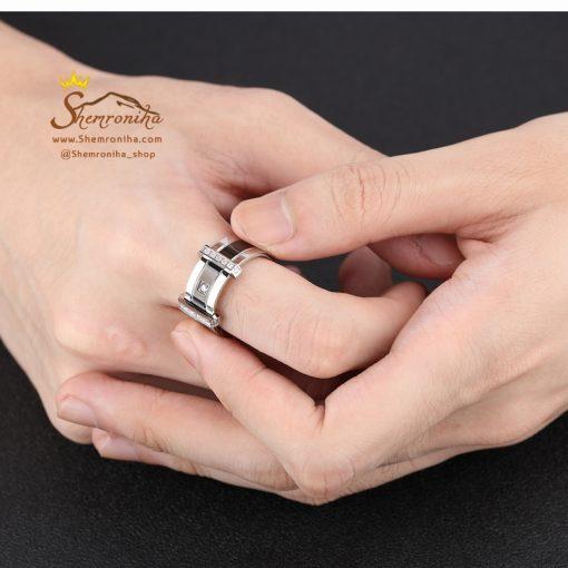 انگشتر مردانه سه لاین