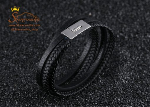 دستبند چرم مردانه زنانه چند رشته