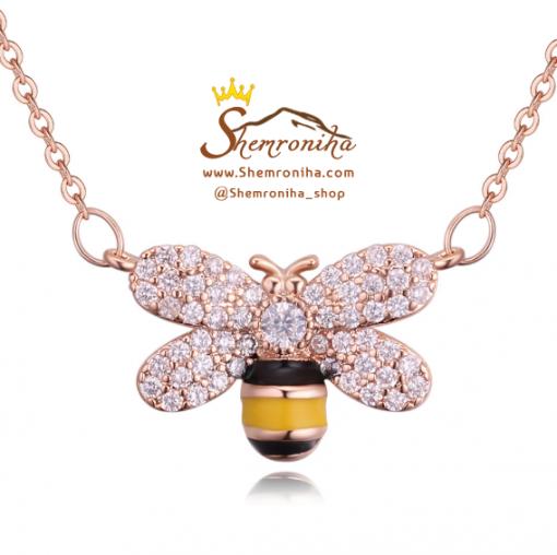 گردنبند زنبور رزگلد GUCCI