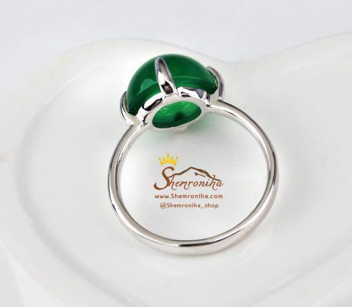 انگشتر حلقه نگین سنگ سبز