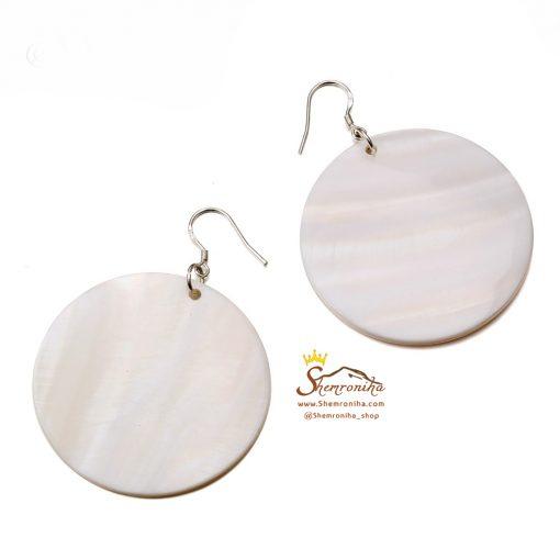 گوشواره سنگ Shell سفید