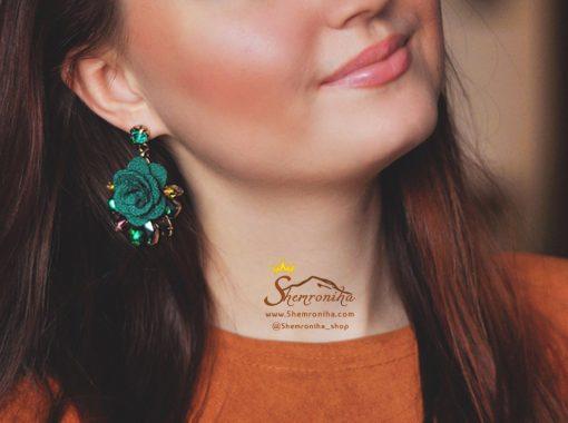 گوشواره گل سبز