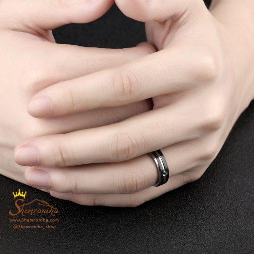 انگشتر مردانه سیلور و مشکی