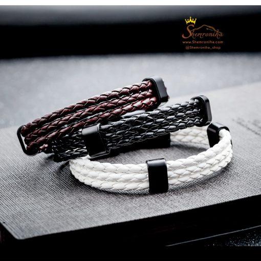دستبند بافت مشکی