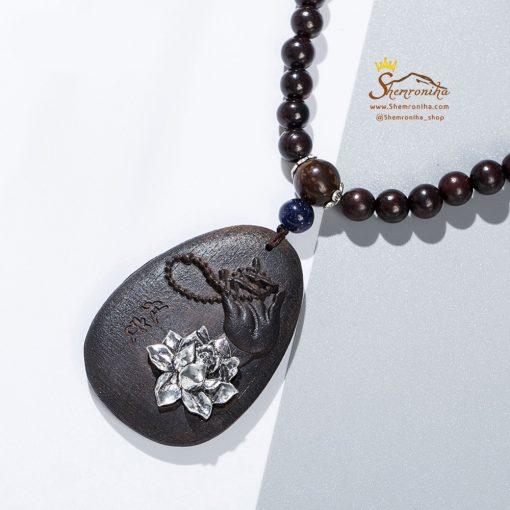 گردنبند بودا مهره ای آویز گل