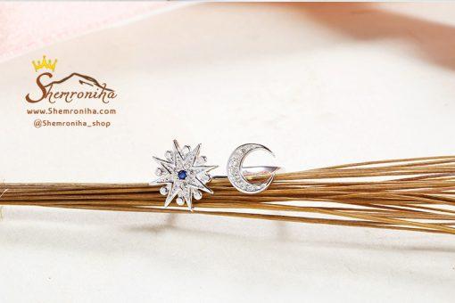 انگشتر نقره ماه و ستاره