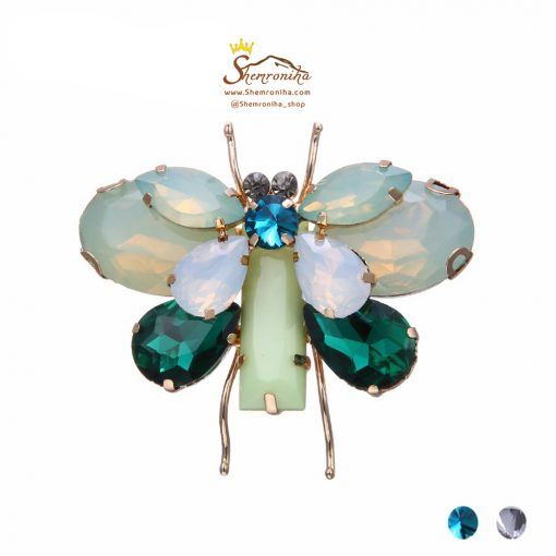 گل سینه – سنجاق سینه پروانه سبز