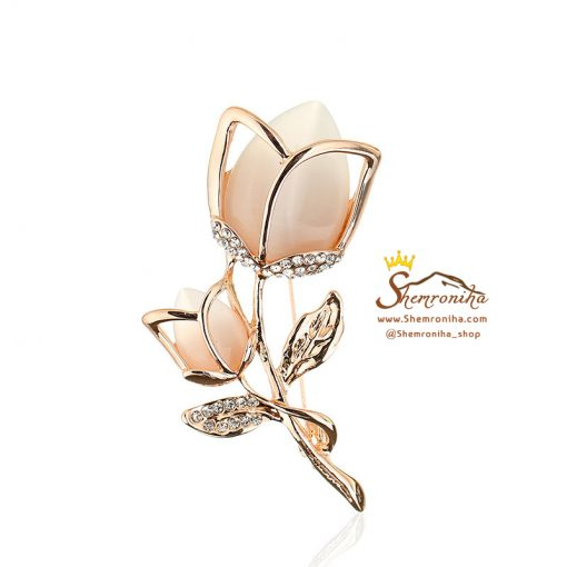 گل سینه – سنجاق سینه گل رز رزگلد