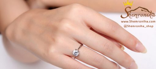 انگشتر نقره سولیتر