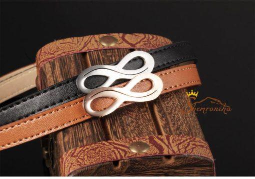 دستبند بینهایت چرمی قهوه ای
