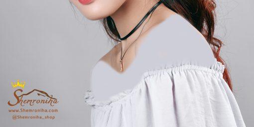 گردنبند چوکر مشکی دو رشته