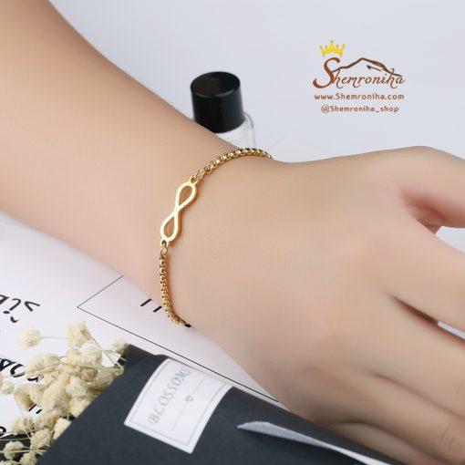 دستبند تنیسی بینهایت سیلور