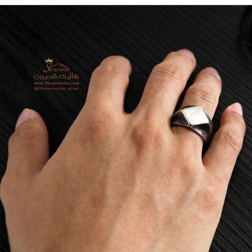 انگشتر مردانه مشکی