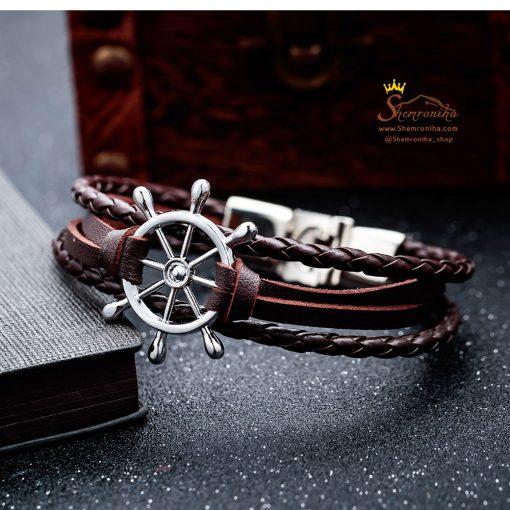 دستبند لنگر قهوه ای