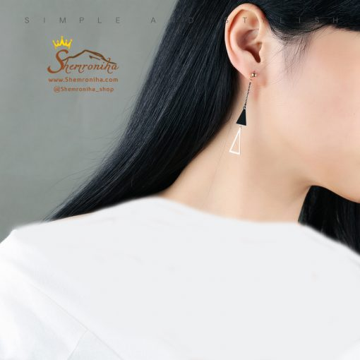 گوشواره آویزی مثلث