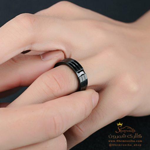 انگشتر حلقه مردانه مشکی