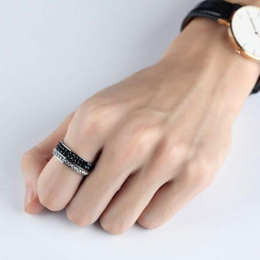 انگشتر مردانه نگین باگتی سیلور